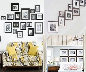 How To Hang Multiple Pictures On Wall decorate your home with photo frames -